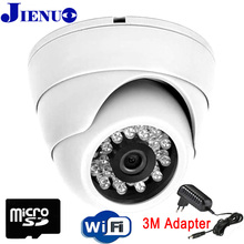 720P 960P 1080P IP Camera wifi Security indoor Video Surveillance wirless Dome CCTV Nightvision Home Camera SD Card Onvif JIENU