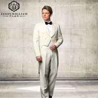 LN001 Custom Made Mens 3 piece Suits With Pants For Wedding Groom Slim Fit Costume Homme Mens Party Tuxedo Tailcoat