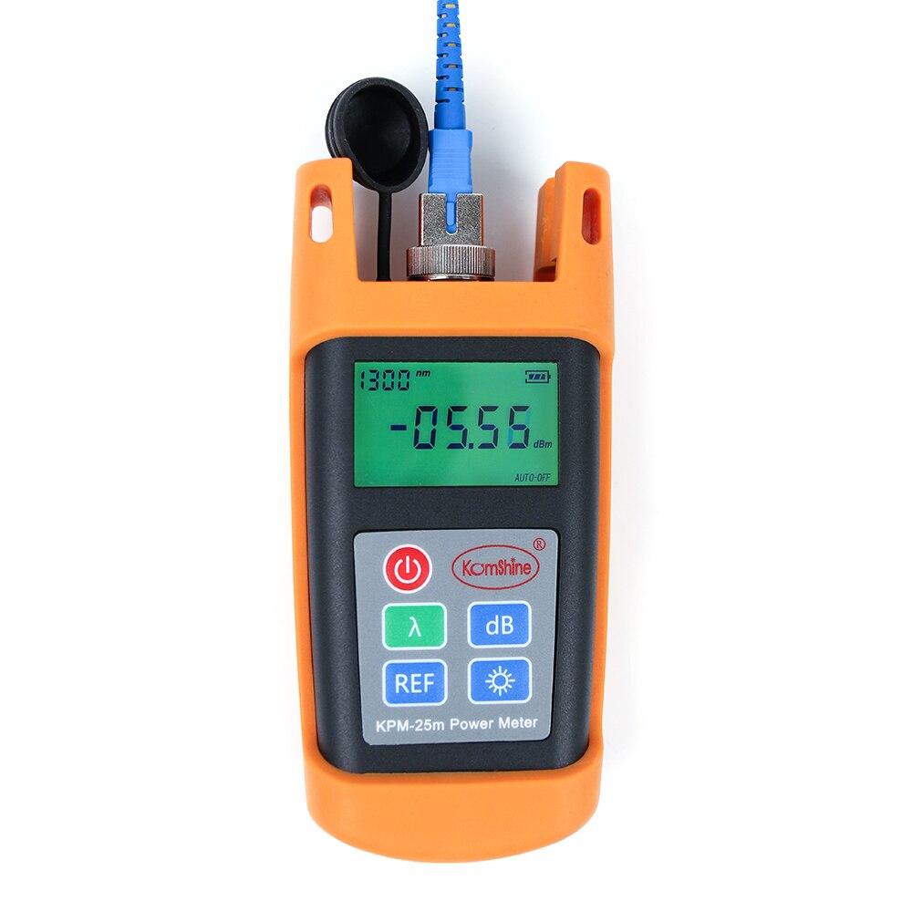 Portable FTTH Fiber Optical Test Tool Fiber Optic Power Meter KPM-25M OPM Tester 800~1700nm WavelengthPortable FTTH Fiber Optical Test Tool Fiber Optic Power Meter KPM-25M OPM Tester 800~1700nm Wavelength