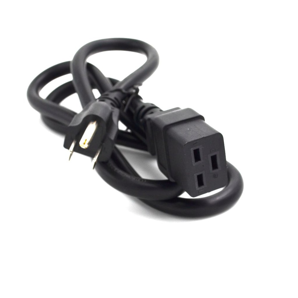 USA Power Cord,US Canada 3Prong Nema 5-15P 3Pin Male to IEC320 C19 Left Angle Female Socket Power Adapter Cable,1 pcs usa us plug 3pin power cord cable 3 prong computer ac adapter lead 3 pin power adapter cable 10a 250v 1 5m
