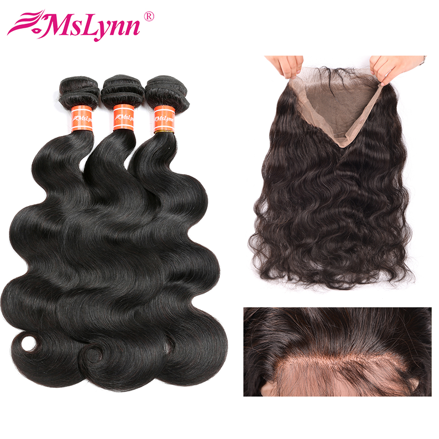 3/4 Bundles With Closure Elisheva 360 Lace Frontal With Bundle Brazilian Straight Unprocessed Human Hair 3 Bundles With 360 Frontal Closure 4pcs Deals Hair Extensions & Wigs