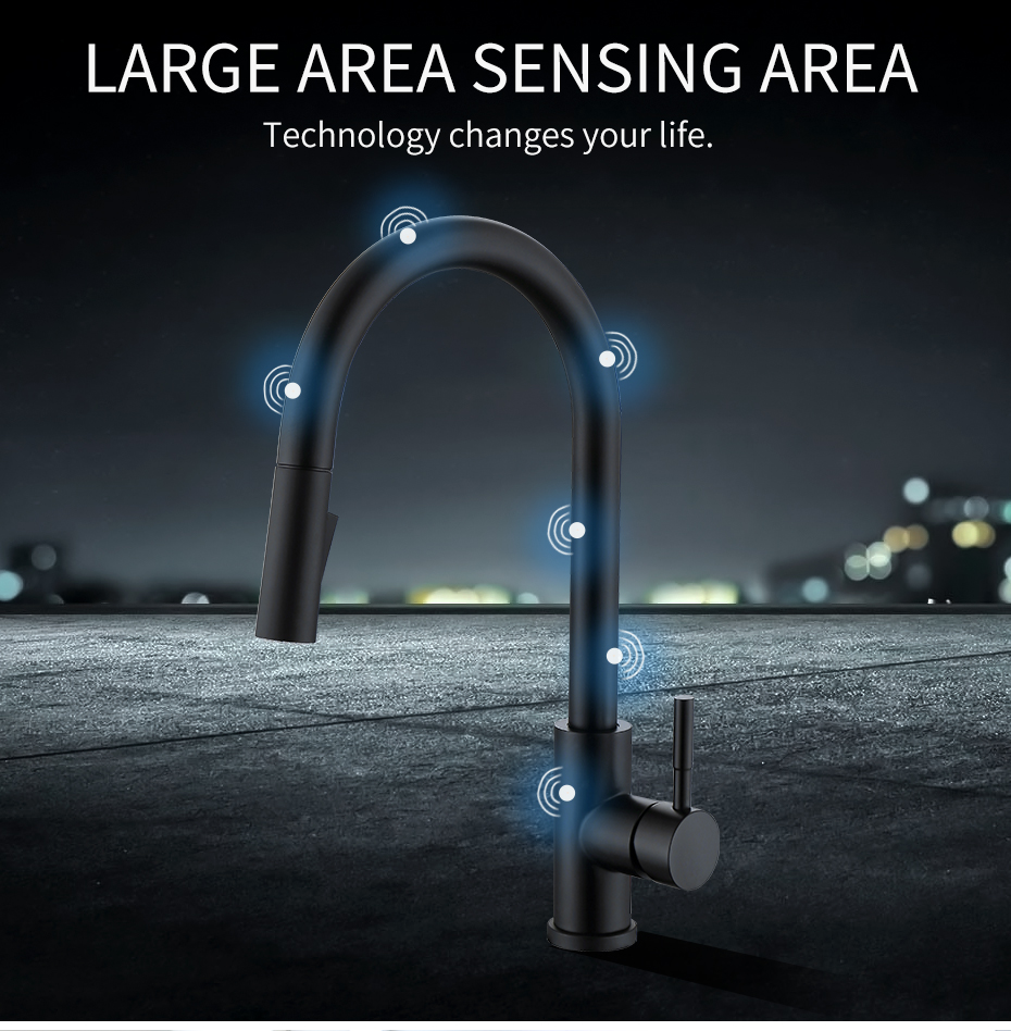 Kitchen faucet with sensor