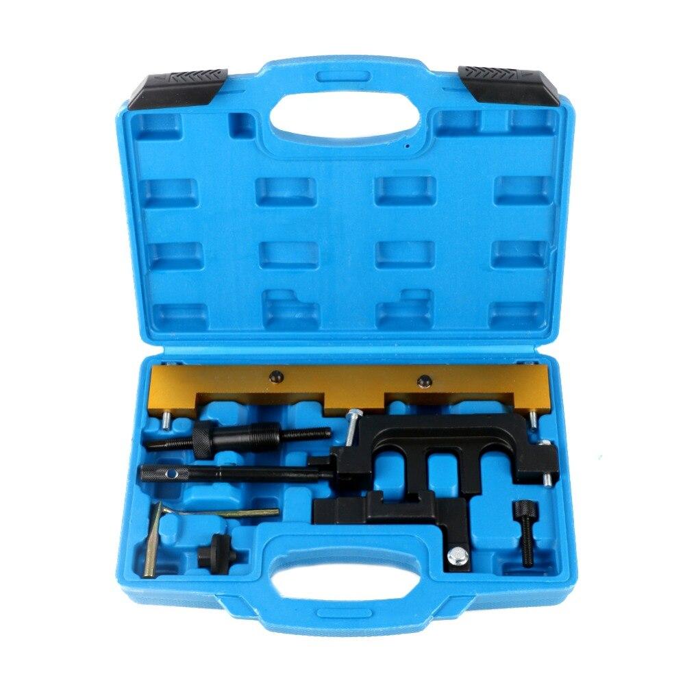 Mr Cartool 8 pièces moteur de distribution outil chaîne Kit changement arbres à cames verrouillage Installer outil de retrait pour BMW N42 N46 N46T 320i 318i Xi