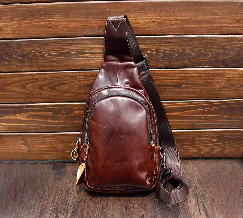 Mens Vintage Biker Oil Leather Chest Crossbody Messenger Bag In Top Handle Bags From Luggage On Aliexpress Alibaba Group
