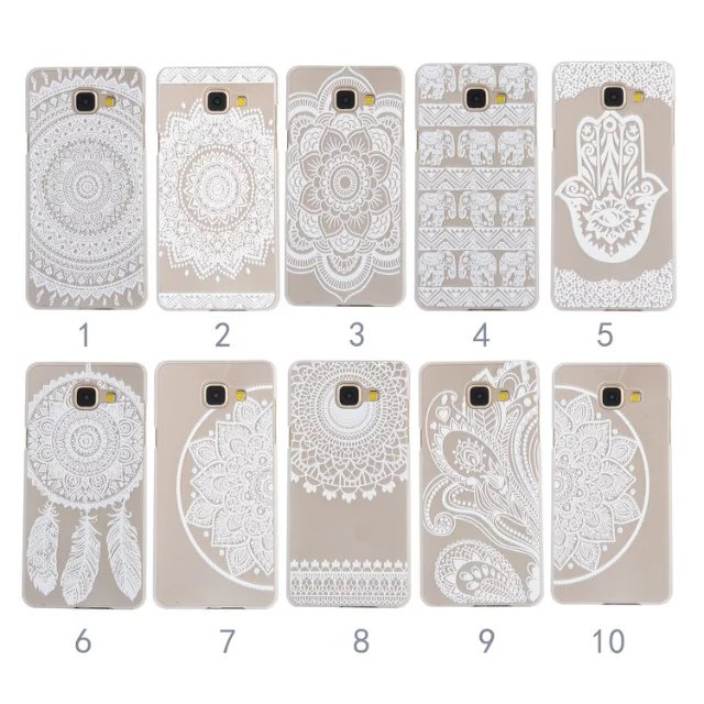 Sexy Paisley Lace Mandala Henna Floral Hard PC Phone Cases Cover For Samsung A3 A5 A7 2017 J1 J5 J7 2016