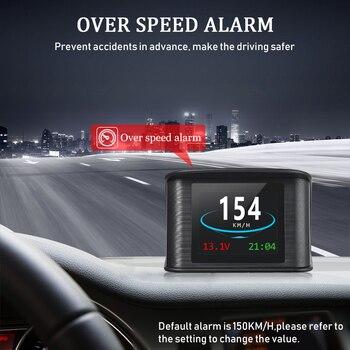 цена на Hud GPS OBD Computer Car Speed Projector Digital Speedometer Display Fuel Consumption Temperature Gauge Diagnostic Tool