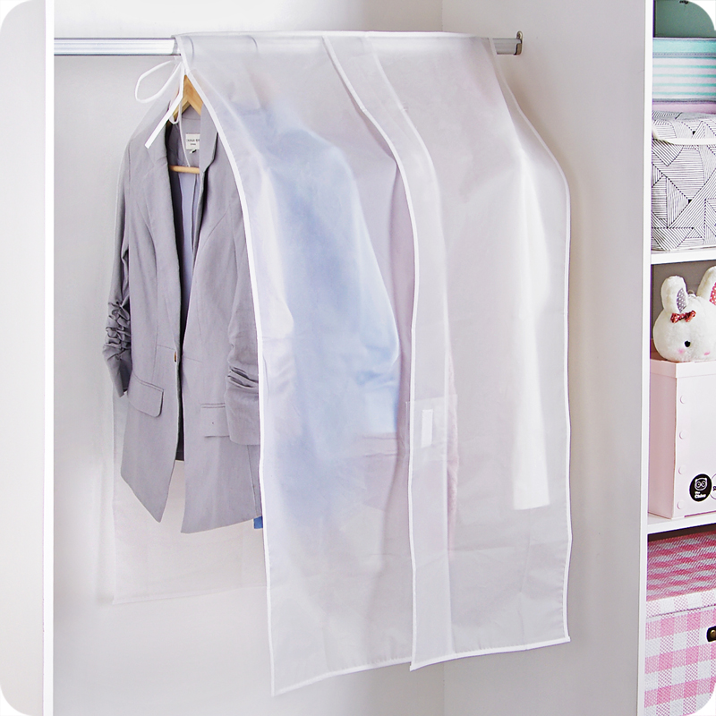 Clear Clothes Shoulder Rack Cover For Home Bedroom Suit Coat Dress Clothing Organizer Dustproof Protector AHB005