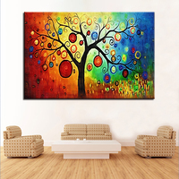 1 Pcs Colourful Leaf Tree Scenery Wall Art Poster Picture HD Printed Home Decor Canvas Painting Quadro Decorativo