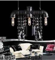 País da américa retro droplight de cristal sala estar quarto café personalidade criativa cristal 3 lâmpada cabeça