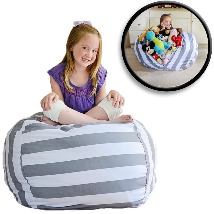 7 цветов набивная коробка животные Кресло-мешок, фасоль | Премиум детское плюшевое решение для хранения игрушек | доступно в 6 моделях - Цвет: gray 24 inches
