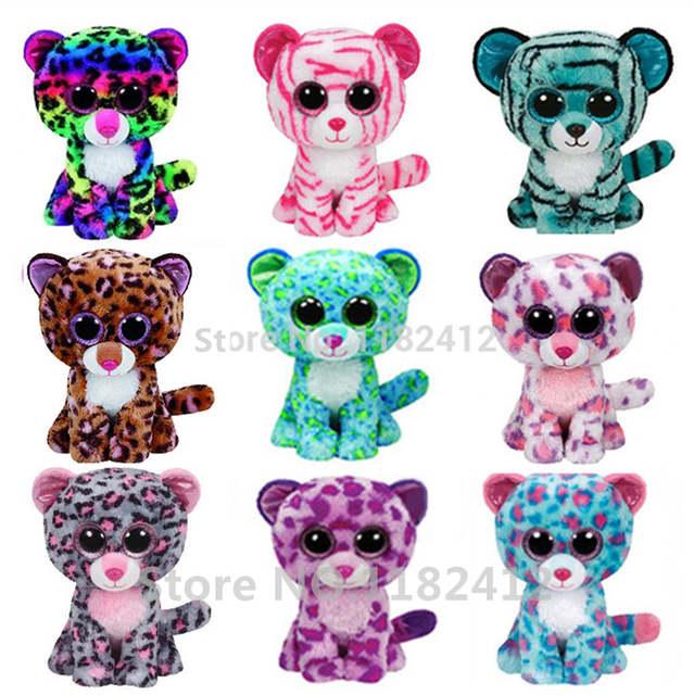 1d7af808764 Ty Beanie Boos Leopard Tiger Leona Tasha Dotty Glamour Tess Asia Patches  Sydney Plush Toys Big