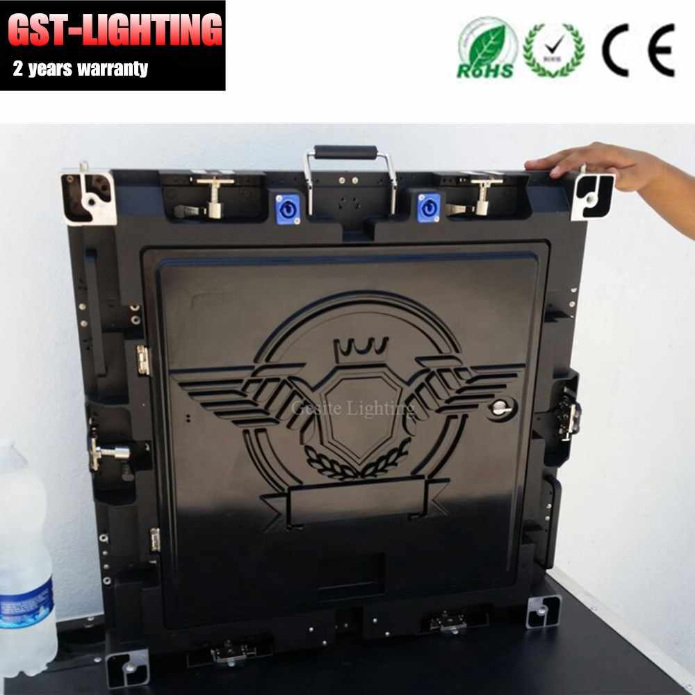 4 pz/lotto pacchetto flight case affitto fase display cabinet video parete interna p5 64x64 cm di colore completo led video wall
