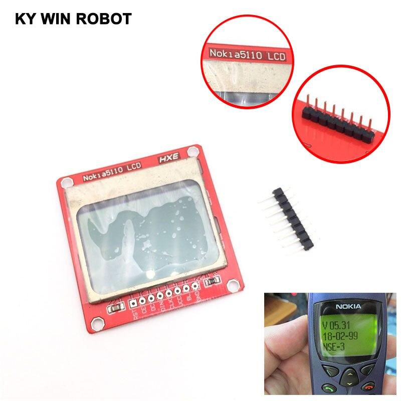 LCD Module affichage moniteur blanc rétro-éclairage adaptateur PCB 84*48 84x48 Nokia 5110 écran pour Arduino contrôleur 3.3 V Dot Matrix Digi