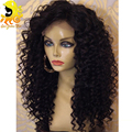 Peruvian Full Lace Human Hair Wigs For Black Women Deep Curly Front Lace Wig With Baby Hair Glueless Lace Front Human Hair Wigs