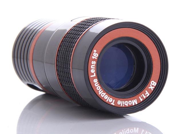 Universal clip de la lente de zoom 8x lente del telescopio del teléfono móvil ajustable para samsung galaxy a5 (2017), asus zenfone 3 max zc553kl