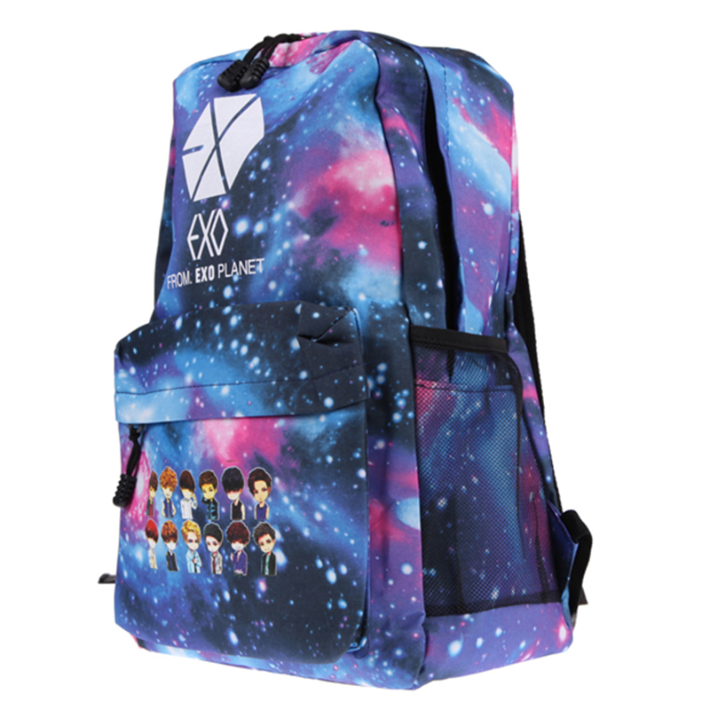 Luggage & Bags New School Bags For Student Exo Galaxy Pattern Canvas Shoulder Bag Backpack Middle School Girls Schoolbag Rucksack Satchel