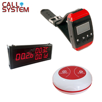 Long Range Strong Signal 433.92MHZ Wireless Waiter Call Bell System (1 display+1 wrist pager+ 28 call button)