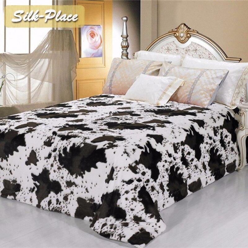 Soie Place pondérée couverture canapé jette couvre-lit nouveau Kint tricoté couverture couverture épaisse lit couverture fourrure de lapin