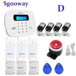 Sgooway Русский Испанский Engish французский язык GSM сигнализация системы домашней безопасности системы сигнализации умный дом сигнализация