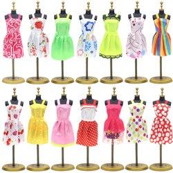 10 pçs/set para bonecas vestido de festa roupas de casamento vestido de uma peça saias para 29 cm/11.42
