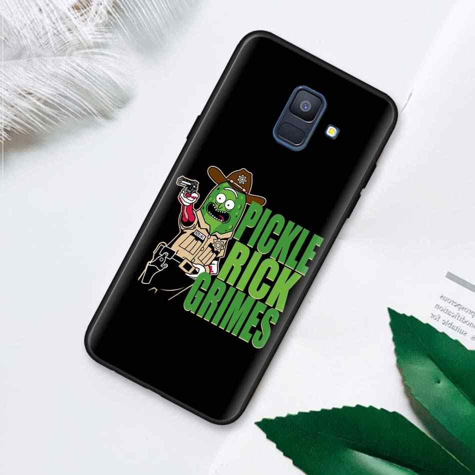 Rick and Morty Pickle Rick Black Soft Case for Samsung Galaxy M30 M10 M20 A50 A70 A40 A10 A20 A30 A60 Silicone Case Cover