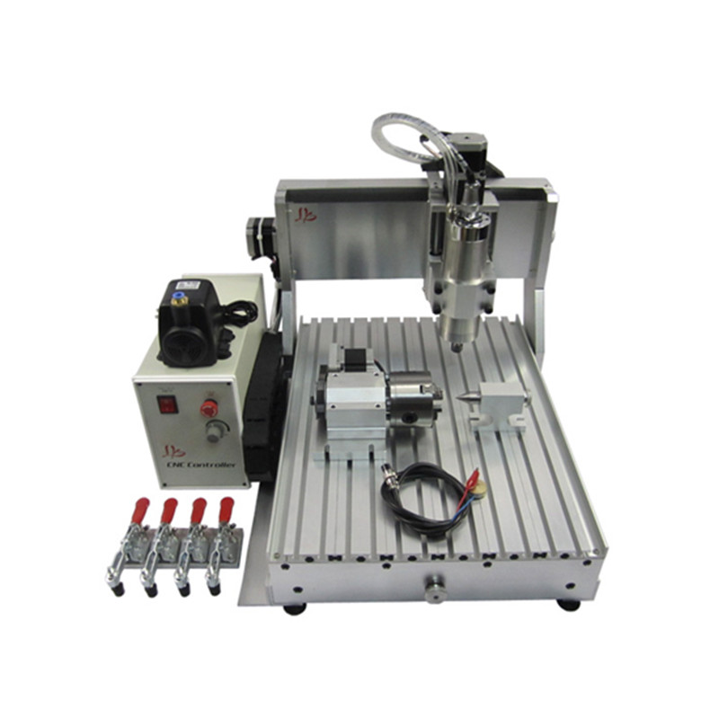 CNC 3040 Z-VFD 800W 4axis 3d wood engraving machine ball screw water cooling mini milling router 2 2kw 3 axis cnc router 6040 z vfd cnc milling machine with ball screw for wood stone aluminum bronze pcb russia free tax
