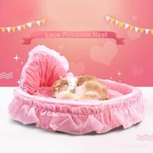 Кровать для питомца Милая сезонная кружевная кровать принцессы