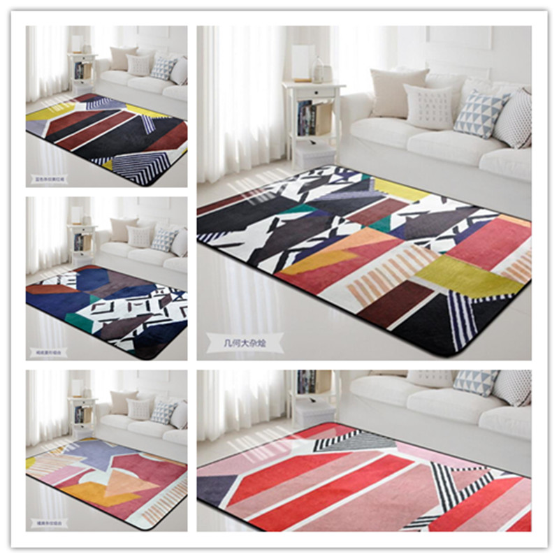 Grande surface géométrie forme tapis pour salon chambre baie fenêtre maison tapis moderne chambre décorer grande taille tapis 190*280 cm