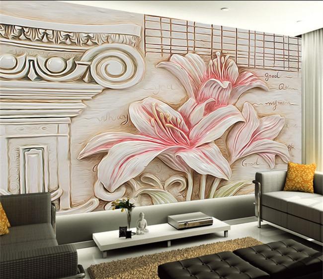 Online kopen wholesale lelie bloem behang uit china lelie bloem behang groothandel - Behang voor restaurant ...