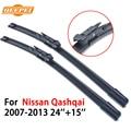 Qeepei limpiaparabrisas para nissan qashqai 2007-2013 24 ''+ 15'' accesorios autos del coche limpiaparabrisas de goma cpb104