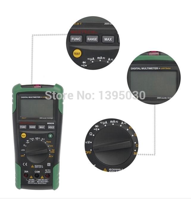2pcs/lot Digital Multi-Meter &#038; Network Lan Tone <font><b>Phone</b></font> Cable Track Tester MS8236