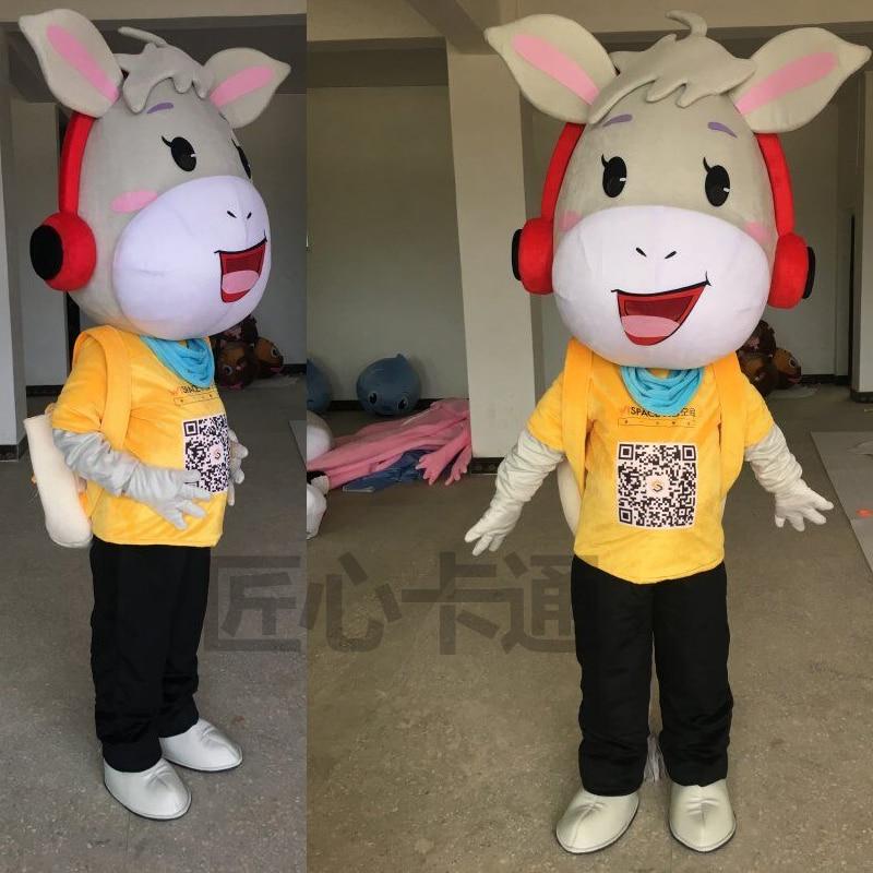 Cosplay Costume âne personnage de bande dessinée mascotte Costume Cosplay mascotte produits personnalisés pour Halloween fête publicité événement