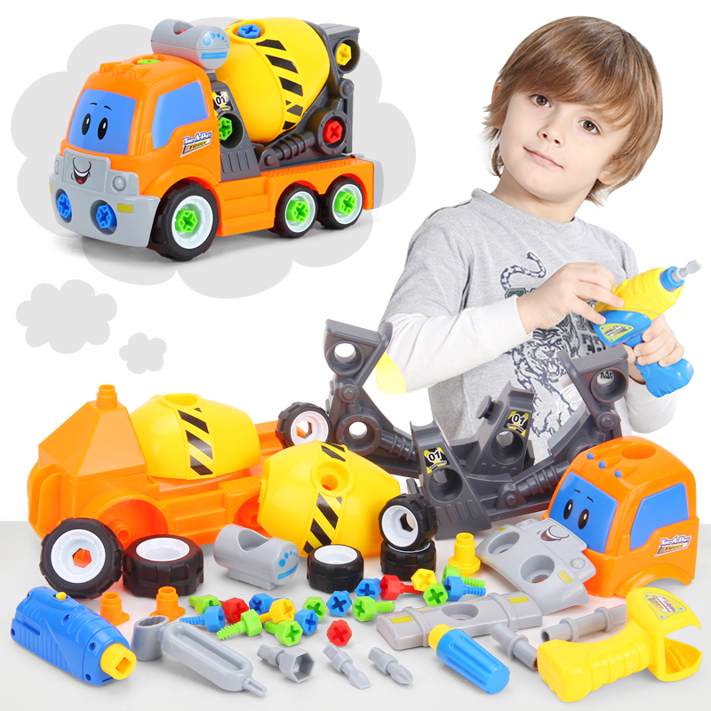 Disassembly Train Car Truck Take Apart Eletctric Toys For Children Multifunctional Tool Learning Education DIY 3D Puzzle Kids стоимость