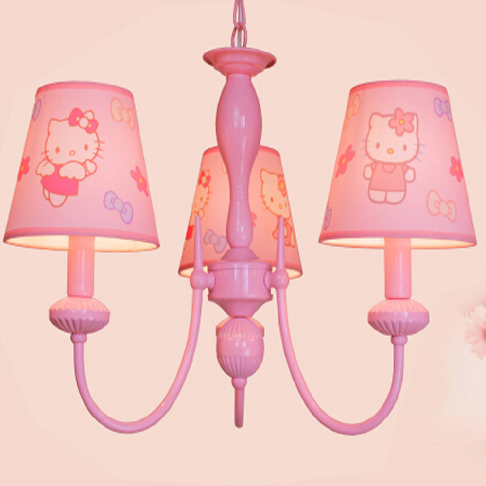 Haute qualit enfants chambre de bande dessine led rose for Chambre hello kitty