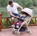 Children trolley stroller high landscape can sit lie four bidirectional shock stroller lightweight folding b ed    free delivery