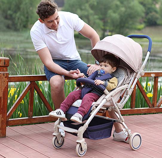 Los niños se encuentran cuatro bidireccional carro cochecito paisaje de alta puede sentarse choque cochecito ligero plegable b ed entrega gratuita