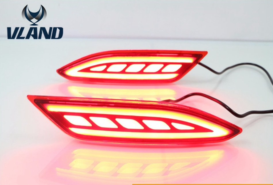 Free shipping for HRV back bumper light Vezel fog light For Hrv warning light 2015 2016 good and easy products water leak detection system water leak detection equipment water leak detector devices
