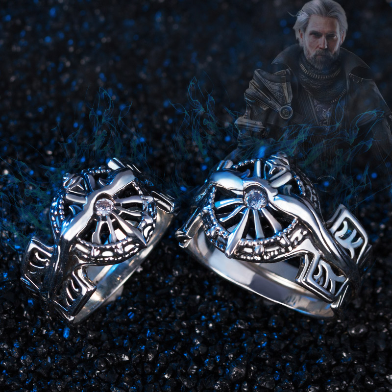 Final Fantasy Ring 925 Silver XV FF15 Noctis Lucis Caelum Light of Ring Cosplay Jewelry For