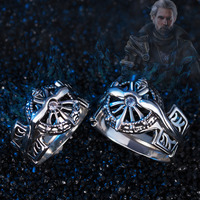 Final Fantasy Ring 925 Silver XV FF15 Noctis Lucis Caelum Light of Ring Cosplay Jewelry For Men Father Boy Christmas Gift 2 Size