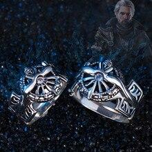 파이널 판타지 반지 S925 은색 XV FF15 Noctis Lucis Caelum 반지의 빛 남자를위한 코스프레 보석 아버지 소년 크리스마스 선물 2 Siz