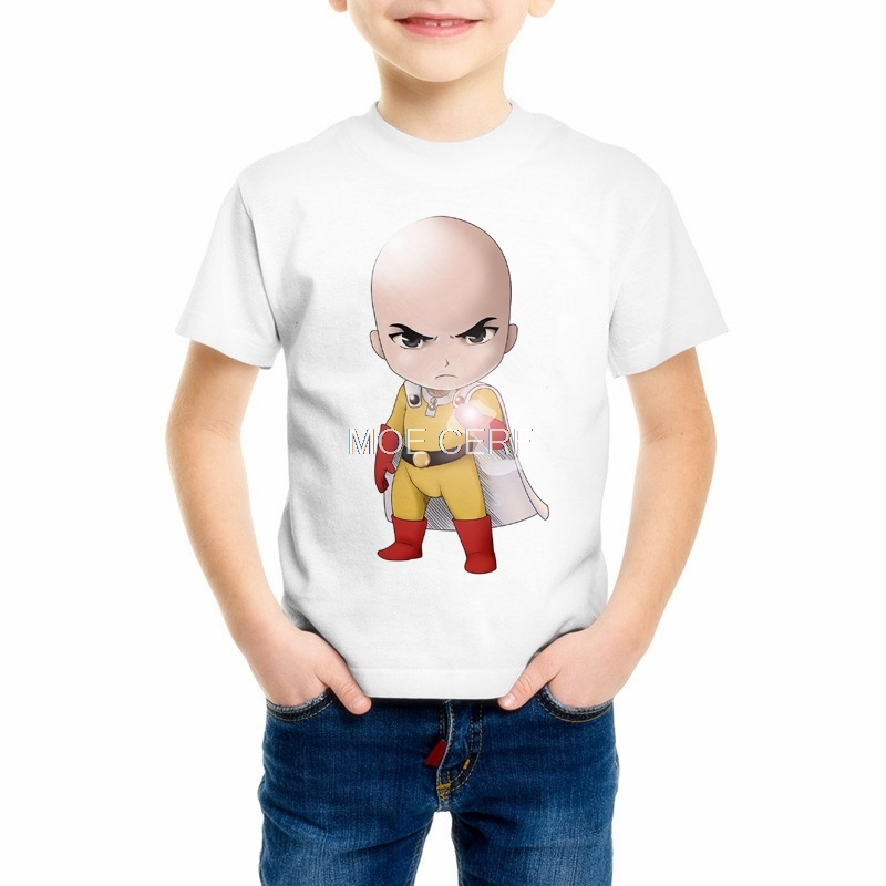 Cool design Anime Childrens tshirt One punch man Boy/Girl/Baby T-shirt Saitama sensei t shirt good Printed Casual Tee 7C-4