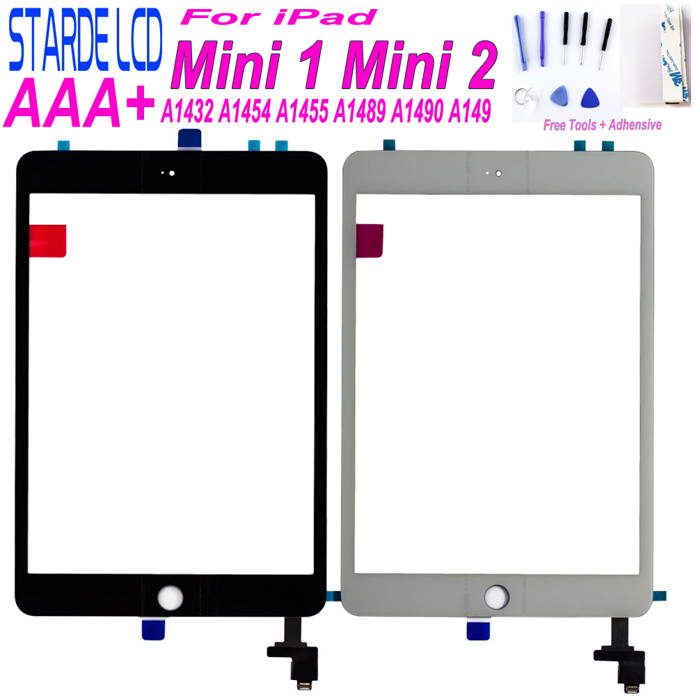 Starde for iPad Mini 1 Mini 2 A1432 A1454 A1455 A1489 A1490 A1491 Touch Screen Digitizer Sensor with Key Button mini1 mini2 Part