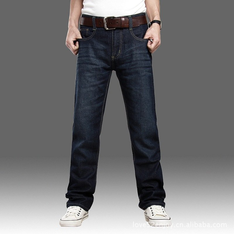 f1c5791f02 Men s self cultivation straight cut jeans men 100% cotton-in Jeans from  Men s Clothing on Aliexpress.com