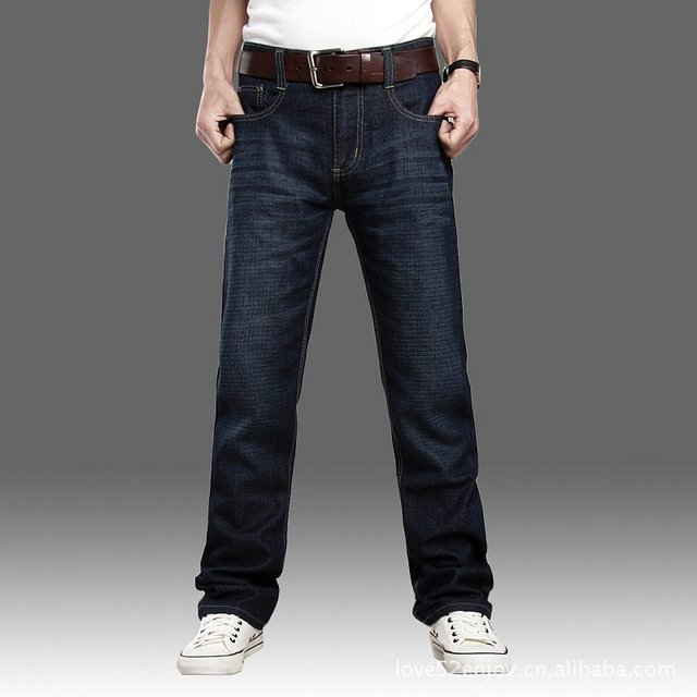 Free shipping ! Menu0026#39;s self cultivation straight cut jeans men 100% cotton-in Jeans from Menu0026#39;s ...