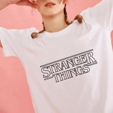 Women T-shirt Summer Tops 2019 Stranger Things Printed Tshirt Montauk American Tv Show Harajuku Fashion Streetwear Graphic Tees цена и фото