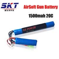 2017 Chất Lượng Tốt GE Điện RC Lipo pin 11.1 V 1500 MAH 20C 2 cell AKKU Thống Airsoft Gun Pin RC model 40C Miễn Phí free shiping
