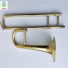 Профессиональный сопрано тромбон страуса Bb мини-тромбон ж/чехол и мундштук-золотой лак отделка