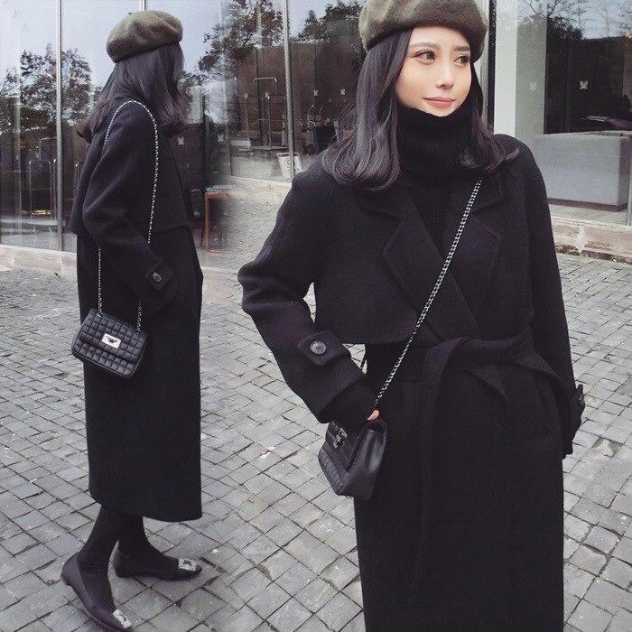 Vestes Mélanges down Solide Noir Et Manteau Poches Femmes 2018 Turn Col Long De Manteaux fqqgTE