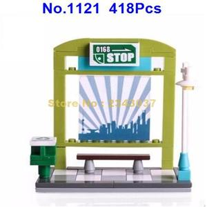 Image 2 -  418pcs city bus station enlighten building block 4  Toy