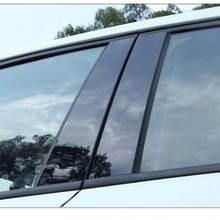 6 шт./компл. для Honda CRV CR-V 2017 2018 2019 автомобильные оконные столбы, колпачки, отделка, стикер, автомобильные внешние аксессуары